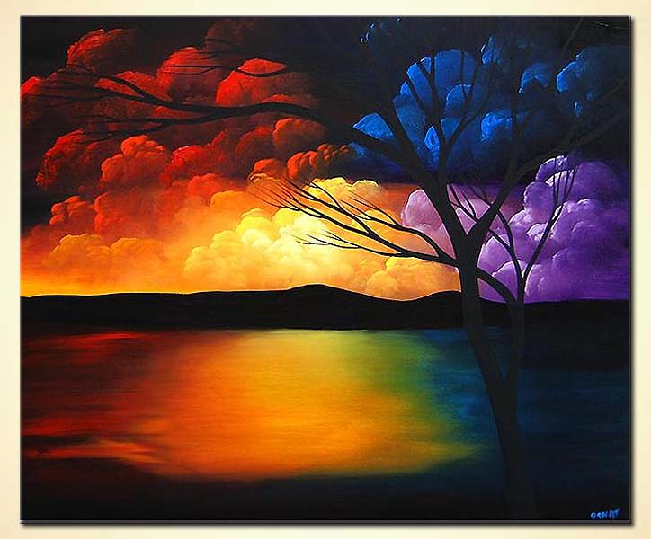 Painting abstract landscape painting 3712 for Abstract nature painting