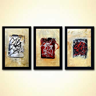 Abstract painting - The Three Stones
