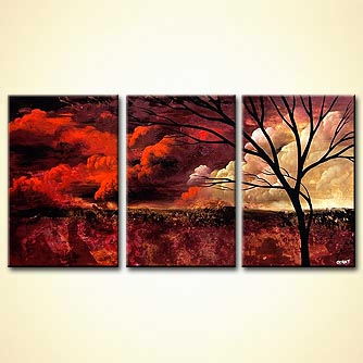 Landscape painting - Crimson Sunset
