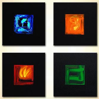 Abstract painting - The Four Elements