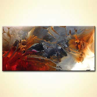Abstract painting - Soft Landing