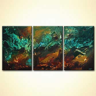 Abstract painting - Waiting to Wave