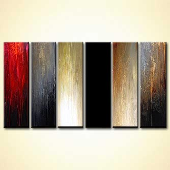 modern abstract art - Ebony and Ivory