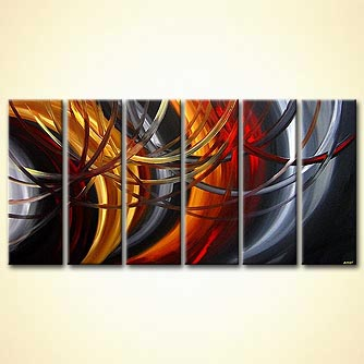 modern abstract art - Gold and Silver