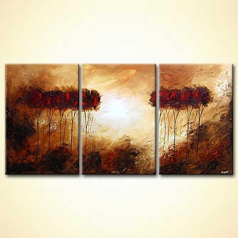 Forest painting - No River Too Deep - no Mountain Too High