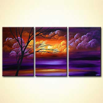Landscape painting - Purple Dawn