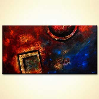 Abstract painting - Red Dust