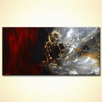 abstract painting red gray