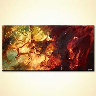 Abstract painting - The Stone of the Stars