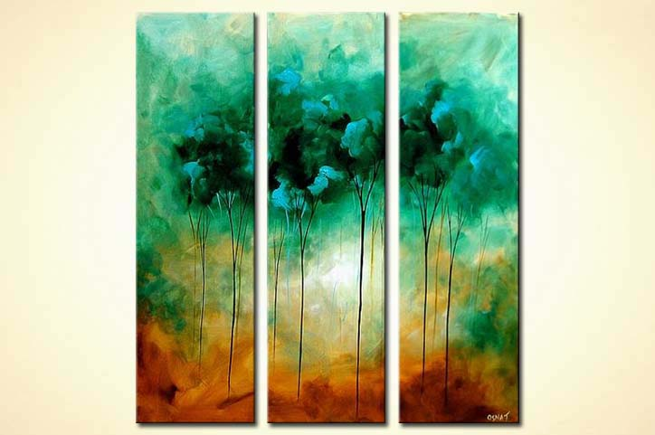 Painting green trees painting 3811 for Buy modern art prints