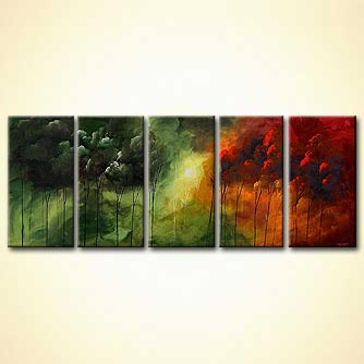 Forest painting - Love for All Seasons