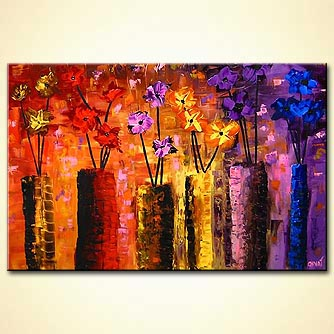 Floral painting - Display of Love