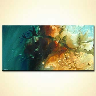 Abstract painting - Into the Deep