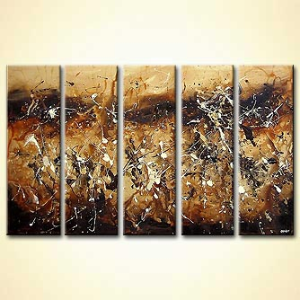 modern abstract art - Caramel Nut