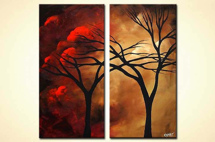 painting for sale diptych landscape painting 3923
