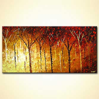 Forest painting - Unforgettable