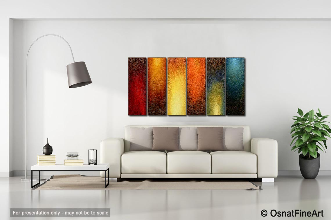 Painting large abstract wall art 3962 for Large colorful wall art