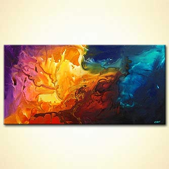 Abstract painting - Beyond the Burning Lands