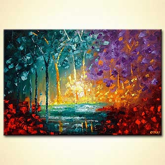 Forest painting - Magical Forest