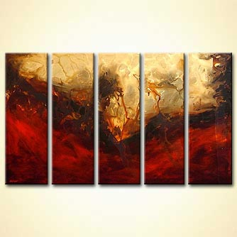 Abstract painting - New Land
