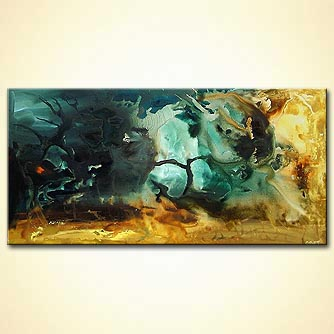 Abstract painting - The Lady of the Lake