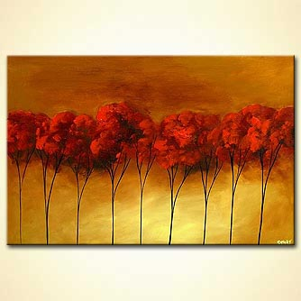 Forest painting - Rouge Royal