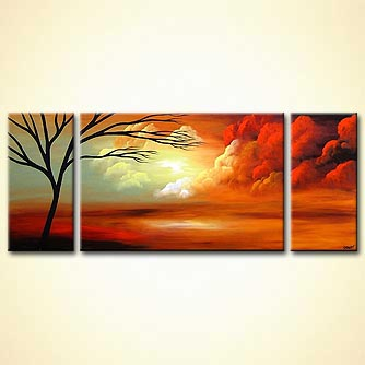 Landscape painting - Stairway to Heaven