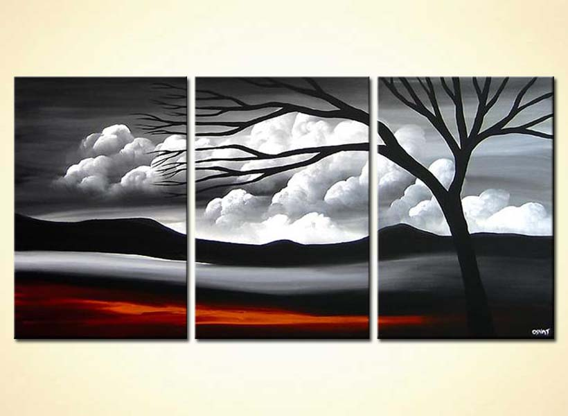 Abstract Landscape Painting 3966 Somewhere Over The Clouds
