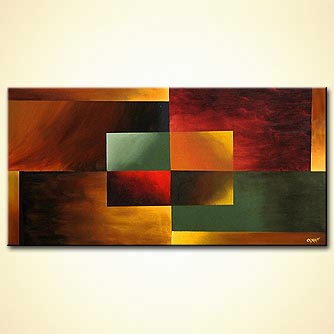 Abstract painting - Back to Square One