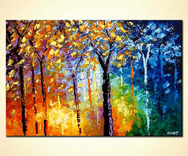 Painting For Sale Blooming Trees 3888