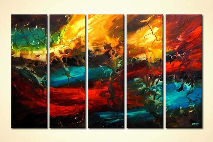 Buy Colorful Multi Panel Abstract 4032