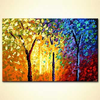 Forest painting - The Enchanted Forest
