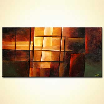 Abstract painting - Fire Within