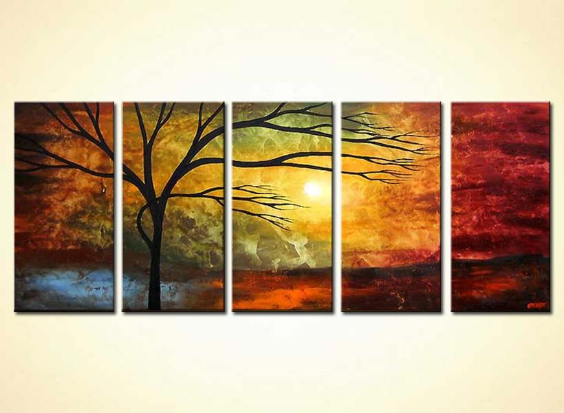 Buy Multi Panel Canvas River Of Life 4026
