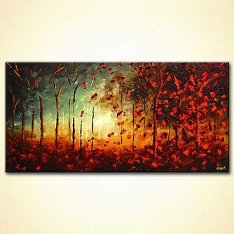 Forest painting - When the Wind Blows