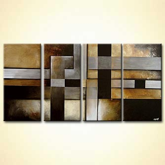 soft geometrical abstract painting