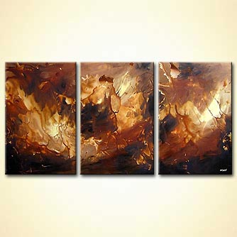 Abstract painting - The Wooden Sea