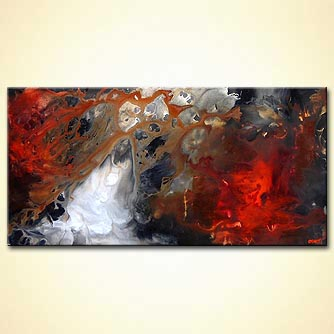 Abstract painting - Riders of the Storm