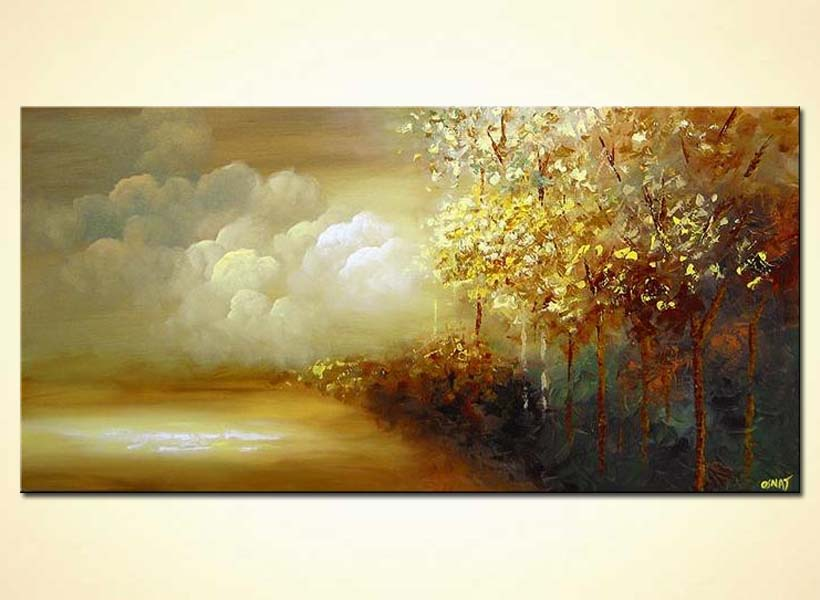 Painting For Sale Beautiful Forest By The Sea Canvas