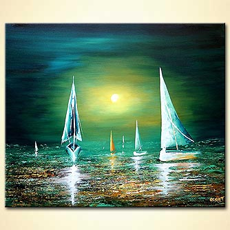 Seascape painting - Carried by the Wind