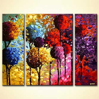 Painting Colorful Dancing Trees 4131