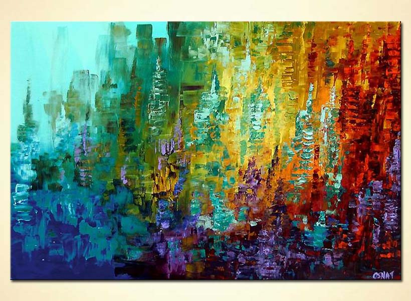Painting colorful abstract painting 4105 for Different types of abstract art