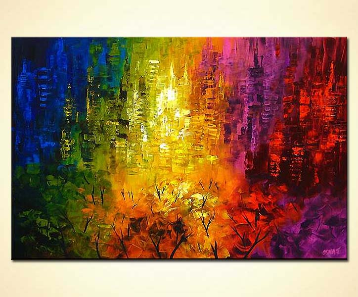 Painting For Sale Colorful Abstract Art Wall Decor 4088