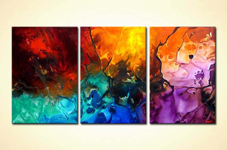 Abstract Painting The Rainbow Magma 4130