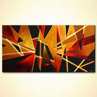 Abstract painting - North Lights