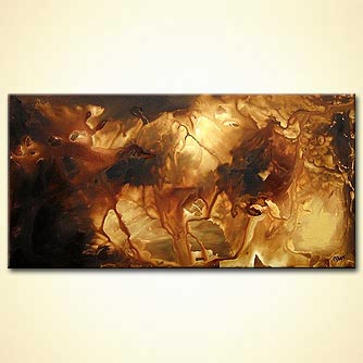 Abstract painting - The Golden Coast