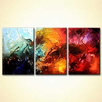 Abstract painting - The Valley of Thunder
