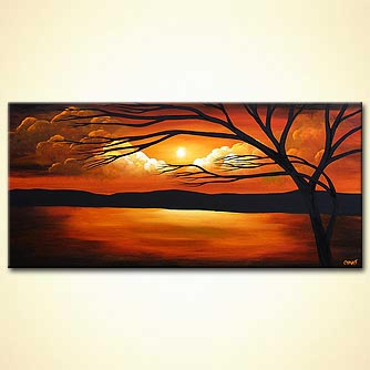 Landscape painting - Heaven is Not Far Away