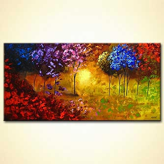 Forest painting - Spring Into Life