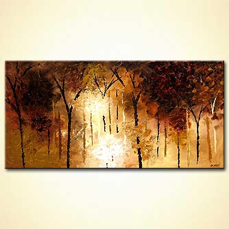 Forest painting - Moments Slipping Away